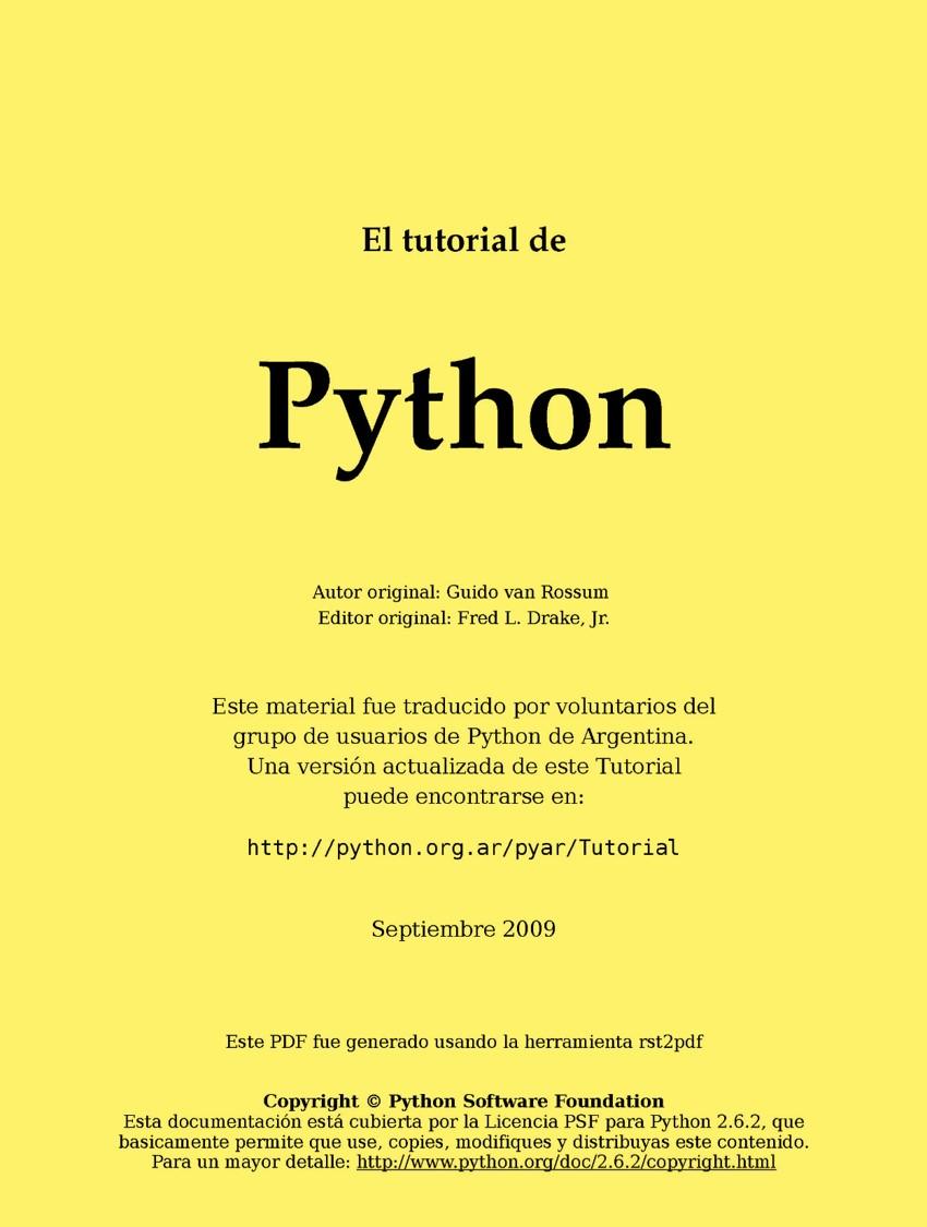 Tutorial de Python 2