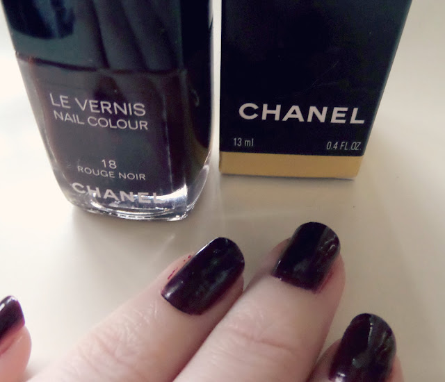 Chanel Rouge Noir Nail Polish Swatch