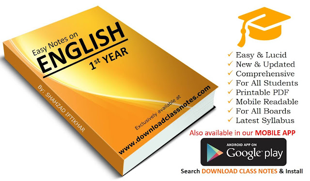 1st Year English Notes for FBISE & Punjab Boards