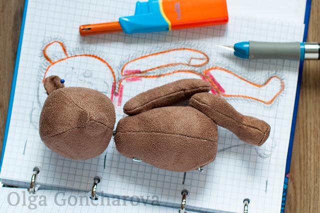 Мастер-класс: Выкройка мишки тедди с нуля / How to make a teddy bear pattern from scratch