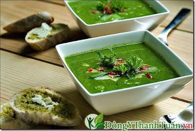 Món ăn chữa nóng gan từ cháo rau chân vịt