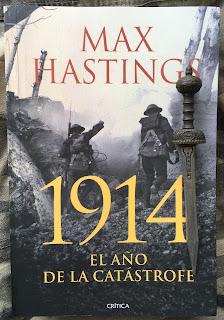 Portada del libro 1914. El año de la catástrofe, de Max Hastings