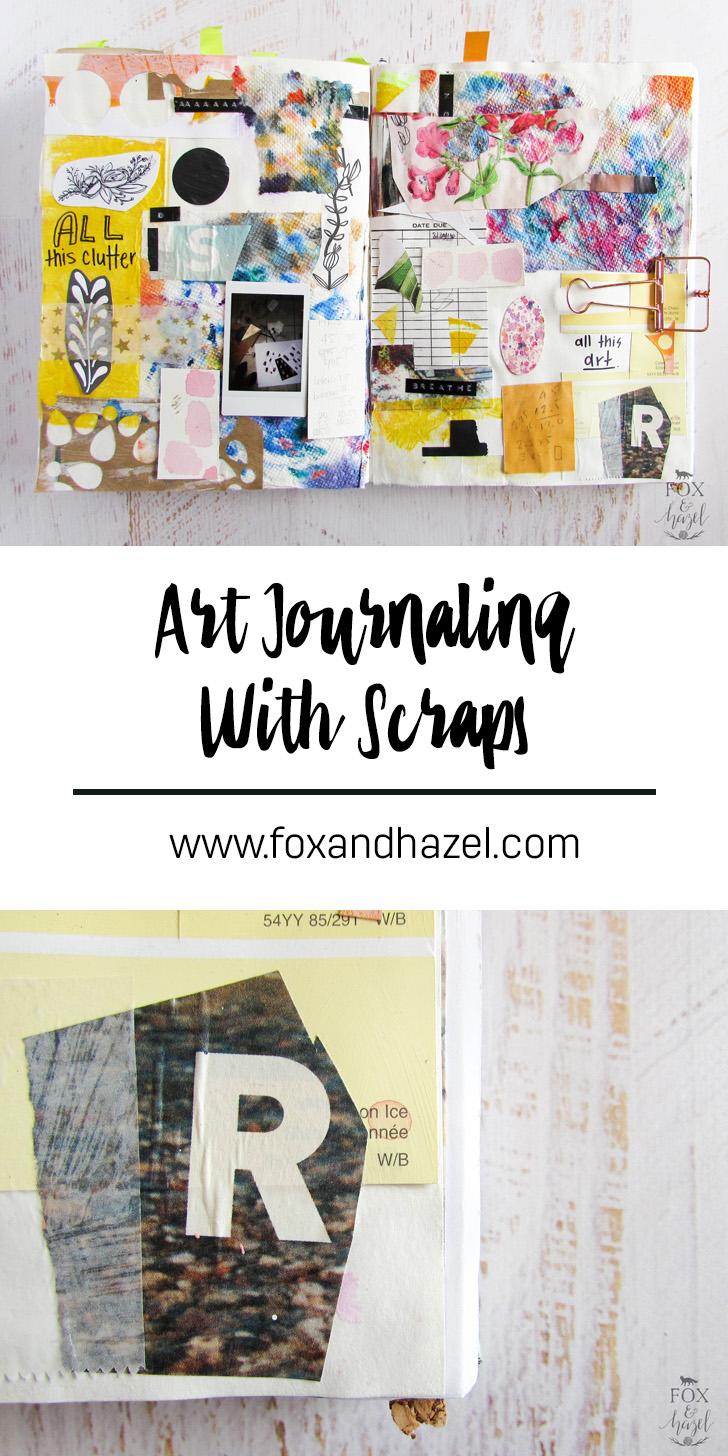 Art Journaling with Scraps // Fox & Hazel
