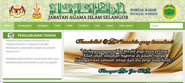 Rasmi - Jawatan Kosong (JAIS) Jabatan Agama Islam Selangor Terkini 2019