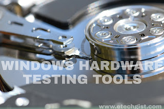 Windows diagnostic tools