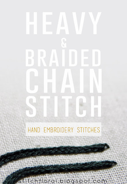 Heavy chain stitch & braided chain stitch tutorial