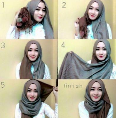 Hijab untuk wajah bulat dan chubby