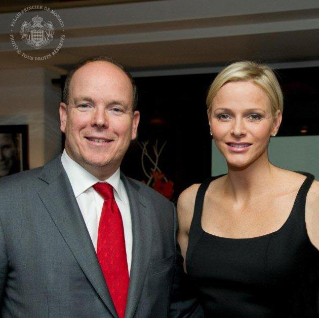 Princess Charlene and Prince Albert at CREM