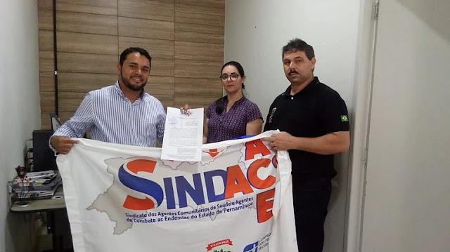 SINDACS-PE protocola primeiro requerimento relacionado ao pagamento do Piso Salarial da categoria em Panelas-PE