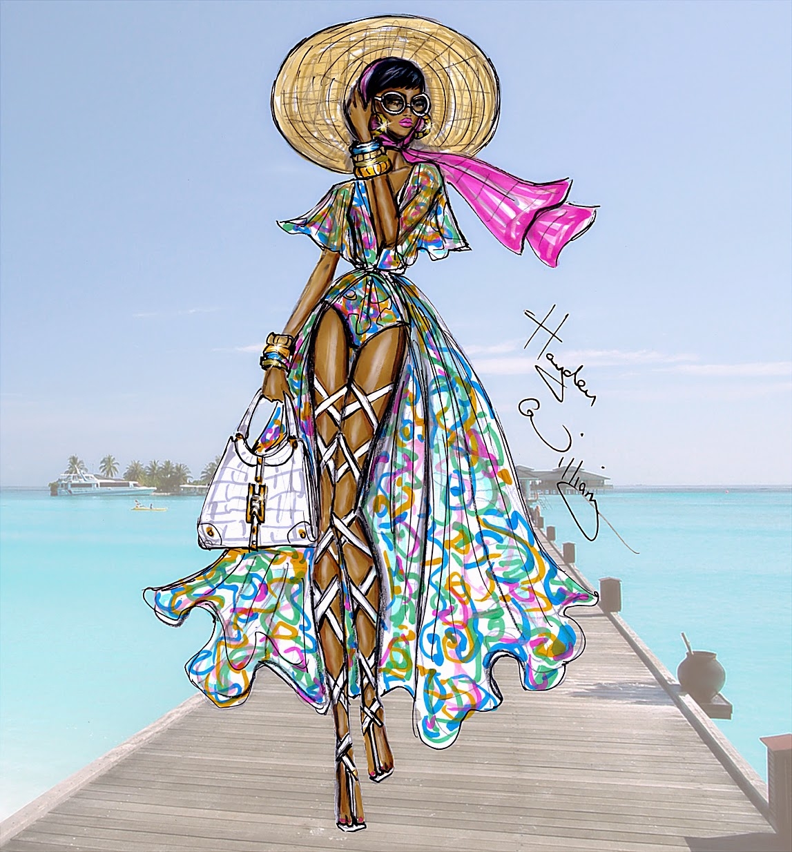 Hayden Williams Fashion Illustrations Jet Set Life Of