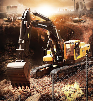 RC Hydraulic Excavator Volvo 2.0 Version - Earth Digger 360L 1.14 Scale