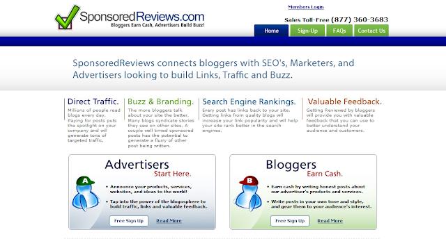 SponsoredReviews.com Kembali Online, Tapi Setengah Hati