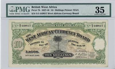 shilling note West African Currency Board