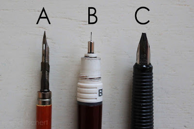 plume, stylo plume, rotring, stylo, calligraphie,