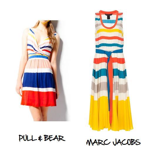 Clones 2011 vestido rayas Marc Jacobs Pull & Bear