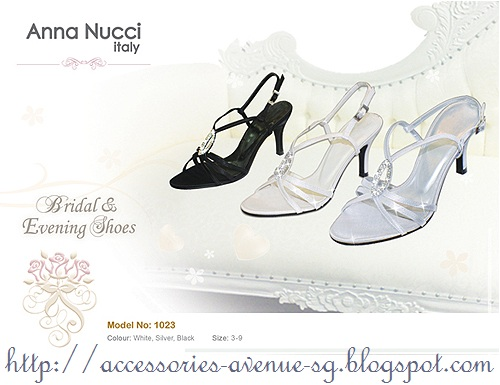 e4e46b40439 ANNA NUCCI SWAROVSKI Crystal Silver Heels - Almost New with Box - 46% off!