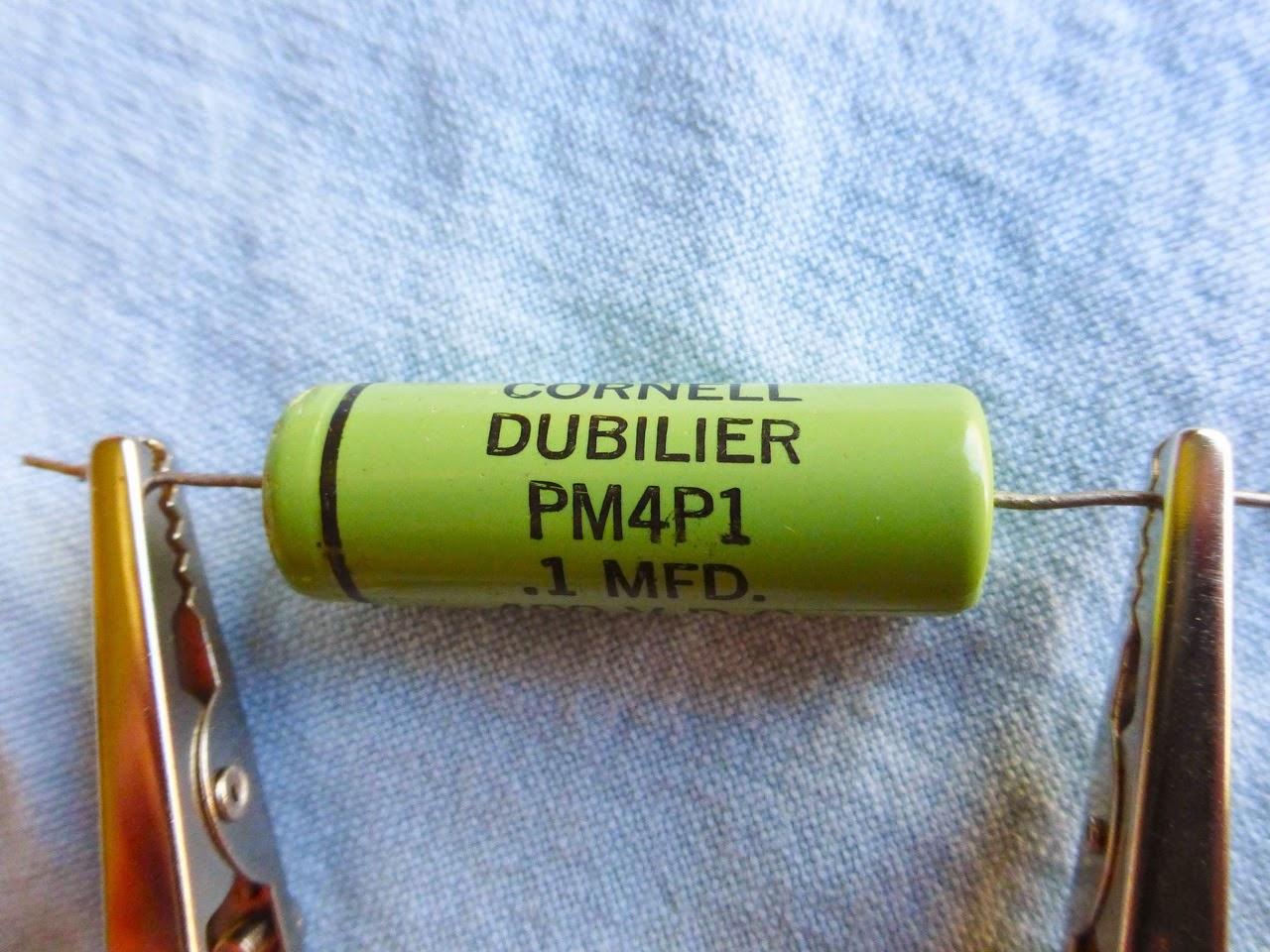 Cornell Dubilier, .1uF, PM4P1, 400 V.D.C., vintage tone, cap, Hammond organ, clips
