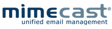 Mimecast Logo in blue and grey