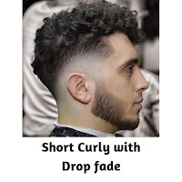 Short Curly with Drop fade