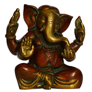 DronaCraft Blessing God Ganesha Brass Sculpture