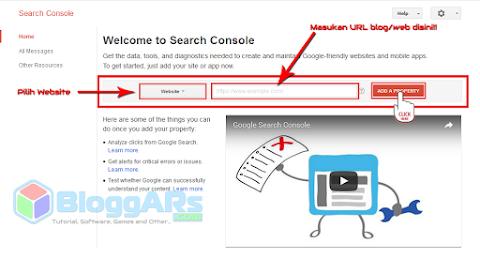 Menambahkan situs Blog pada Google Webmaster Tools