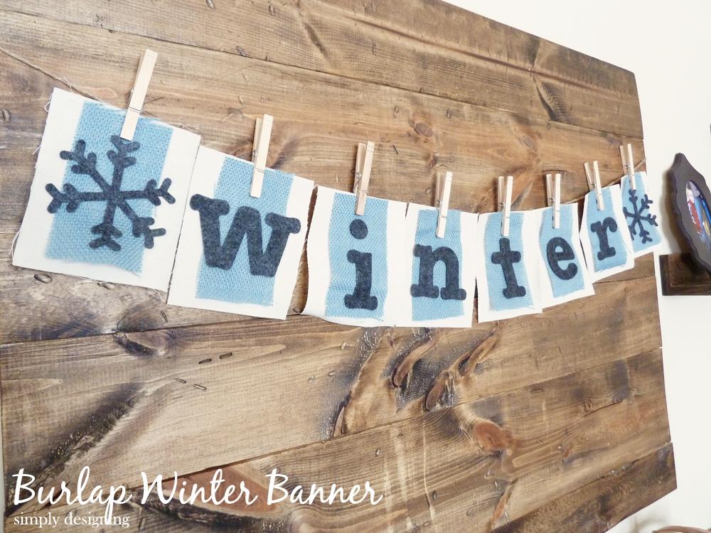 Burlap Winter Banner | #burlap #diy #wintercraft