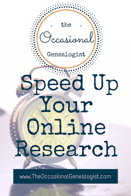 Take 5 minutes now and you can speed up your online research when you finally find time.