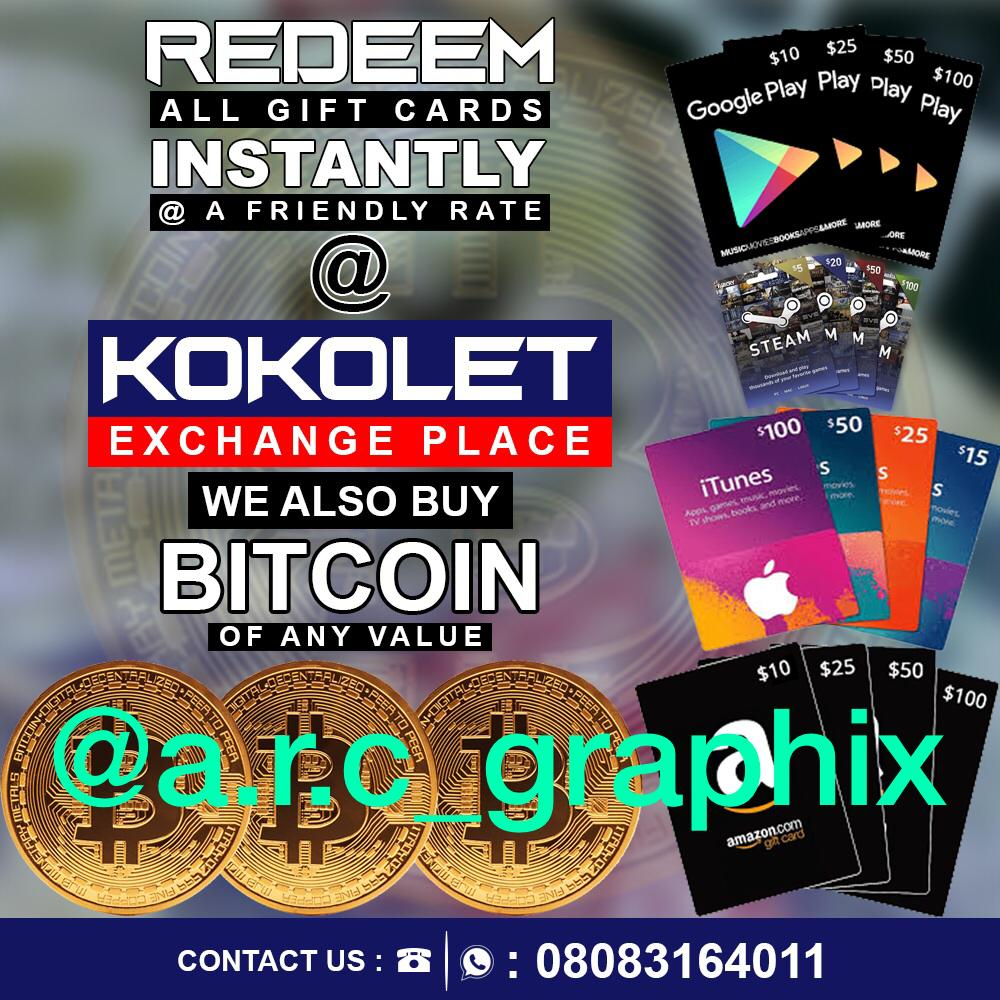 Sell Your Gift Cards Bitcoin For Sweet Cash Kokoletxclusive 50 Google Play Card Us Do You Have Itunes Amazon Steam Etc Wish To Convert Naira
