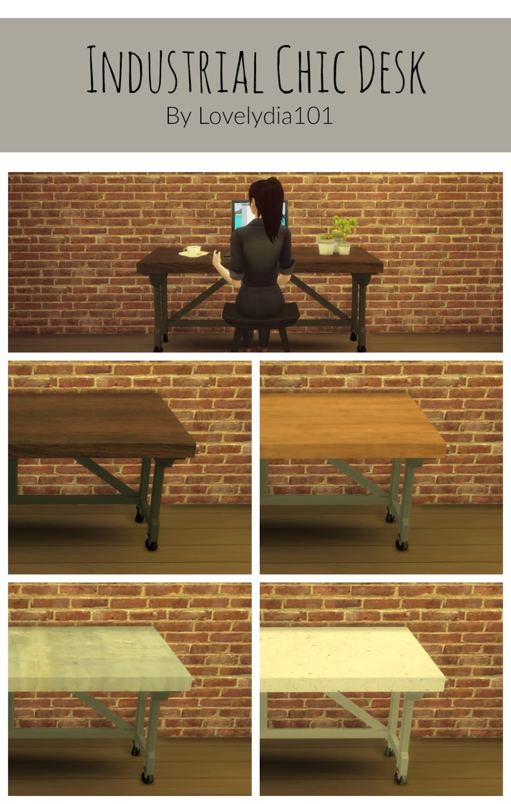 761f78a02acd TS3 Industrial Chic Desk Conversion by Lovelydia101