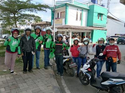 Komunitas SNB Mitra Go-Jek Bandarlampung dan APML Kolaborasi Kegiatan Sosial