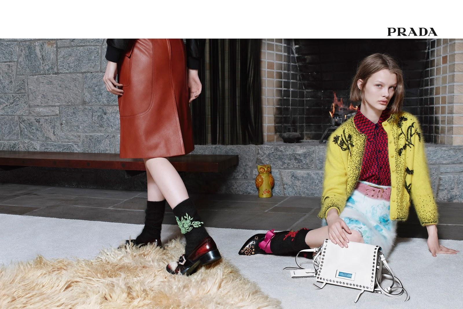"""Prada's PreFall 2017 Ad Campaign, """"Encounters"""""""