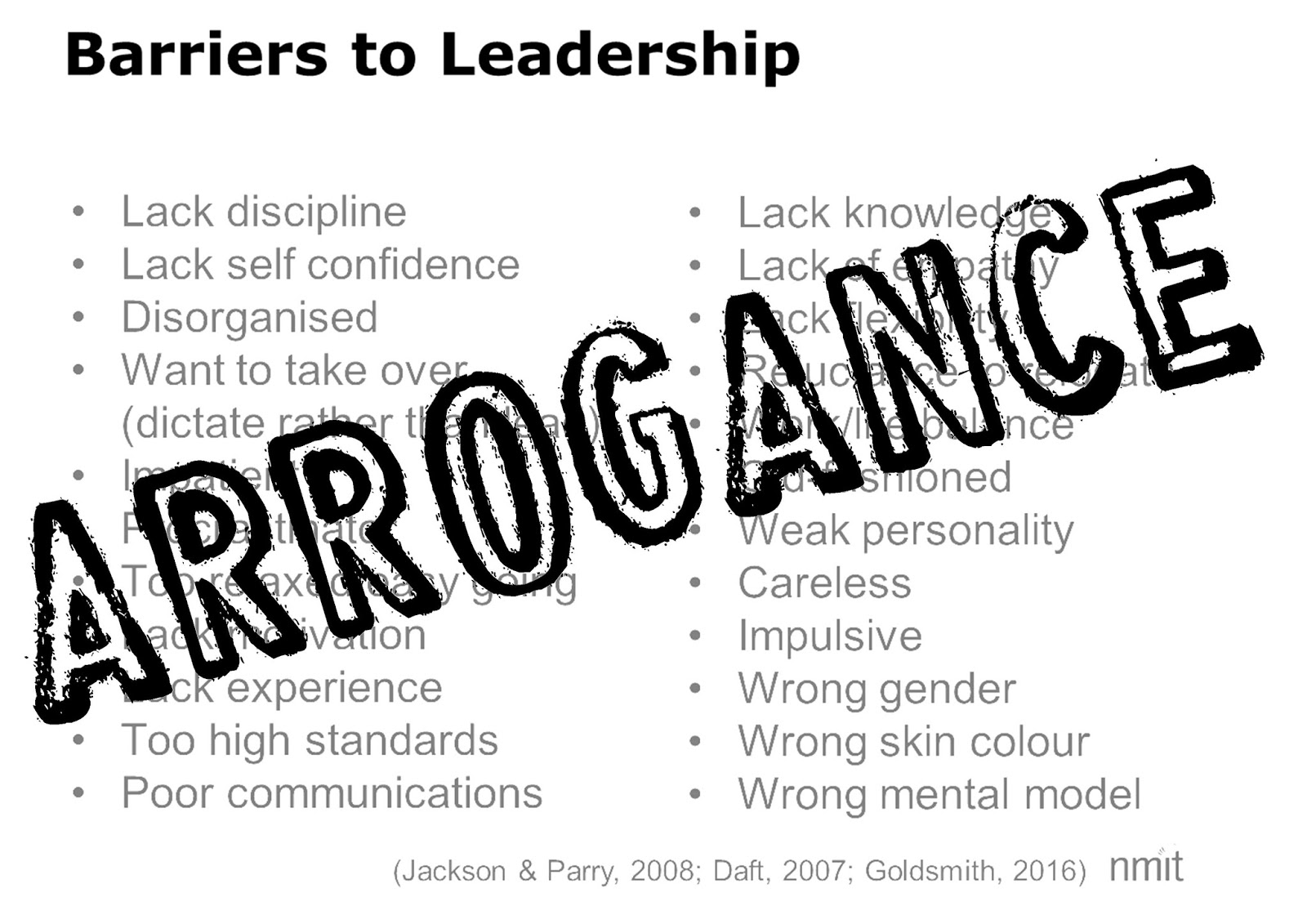 Acts Of Leadership Arrogance A Barrier To Leadership