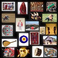 Çeşitli kültürel değerleri bir arada gösteren resim