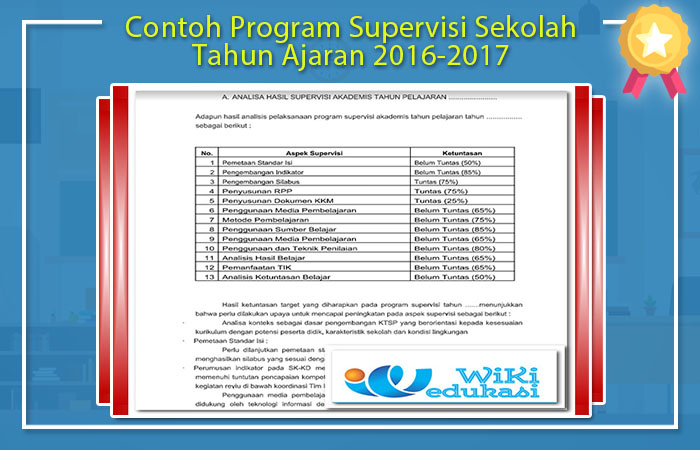 Program Supervisi Kepala Sekolah SMP 2016