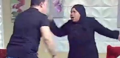 حقيقة ضرب مذيع ضيفته على الهواء واستدعاء الأمن لها