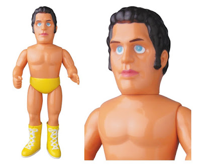 WWE Andre the Giant Yellow Edition Sofubi Vinyl Figure by Medicom
