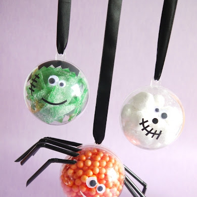 Halloween Kids Crafts | DIY Little Monster Candy Baubles