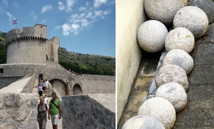 Dubrovnik Stadtmauer und steinerne Kanonenkugeln