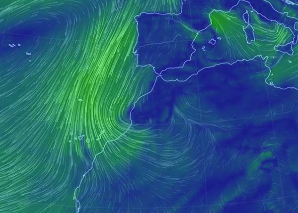 El gobierno  de Canarias activa alerta por vientos en Canarias mañana miércoles, 7 febrero