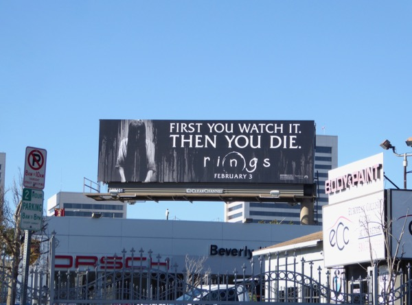 Rings film billboard