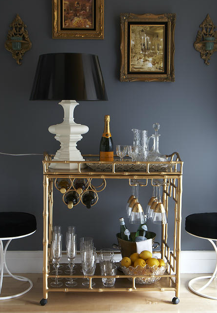 dining room bar cart | 1201north: Julie's Dining Room: Bar Tray