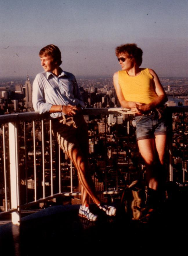 ACB and Jørgen Stærmose atop the World Trade Center in 1980