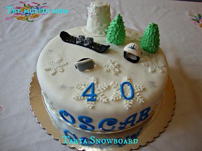 Tarta Snowboard
