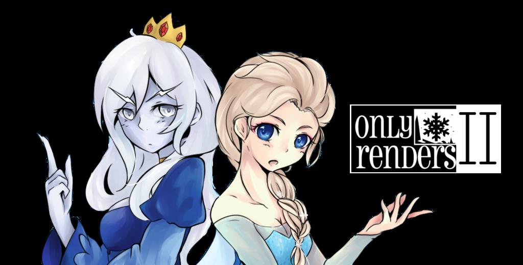 render Elsa,Reina Hielo/La Reina Helada/Ice Queen