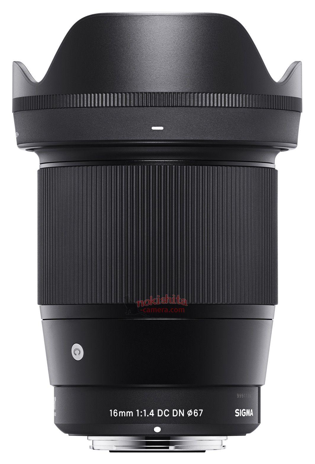Sigma 16mm f/1.4 DC DN с блендой