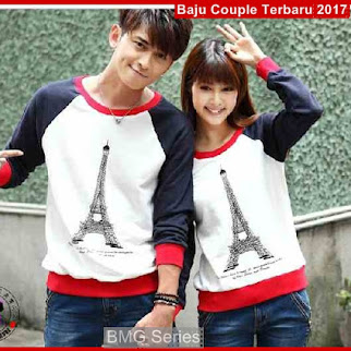 BA46 Baju Couple Paris Jpg Model Couple Murah BShop