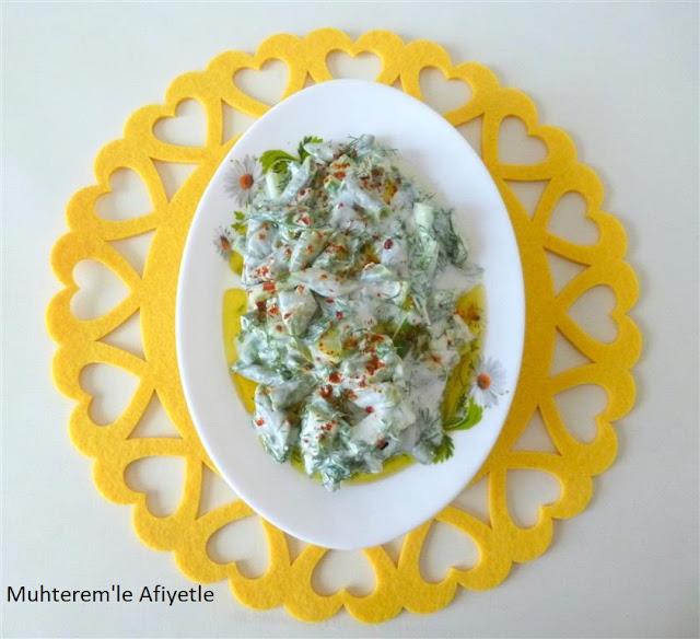 yoğurtlu bakla salatası resimli tarif