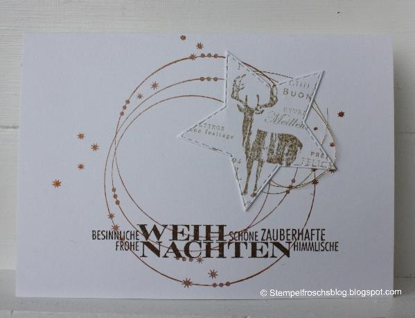 Edle Weihnachtskarten.Stempelfroschsblog Edle Weihnachtskarte Alexandra Renke