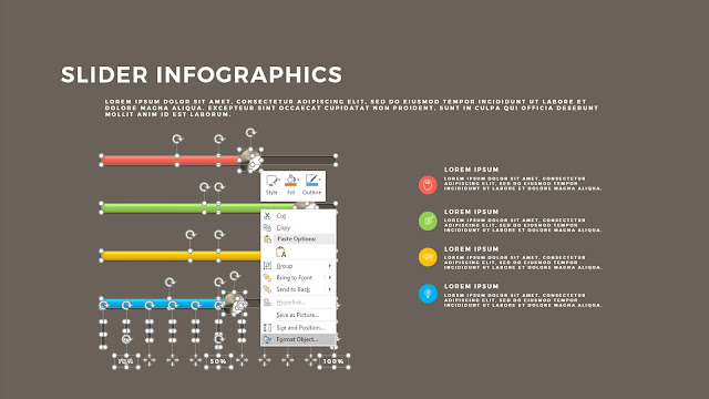 Fully Editable Free PowerPoint Template with Slider Infographics Design Elements