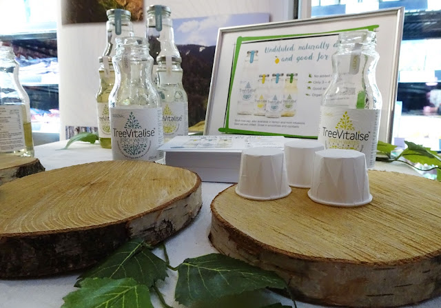 Close up shot on TreeVitalise Birch water display